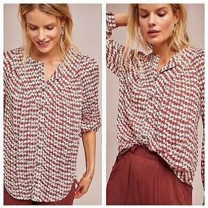 Anthropologie Maeve blouse with dog pattern